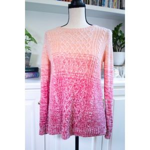 St Johns Bay Pink Ombre Sweater